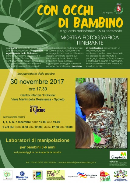"<!--:it-->CON OCCHI DI BAMBINO. LO SGUARDO DELL'INFANZIA SUL TERREMOTO<!--:--><!--:en-->THROUGH THE EYES OF A CHILD. THE GAZE OF CHILDREN ON THE EARTHQUAKE<!--:--> @ Centro Infanzia ""Il glicine"" 