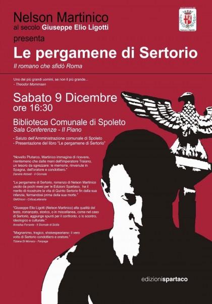 <!--:it-->Le pergamene di Sertorio. Il romano che sfidò Roma<!--:--><!--:en-->Sertorius' Parchments. The Roman who challenged Rome<!--:--> @ Biblioteca Comunale di Spoleto, sala conferenze 2° piano | Spoleto | Umbria | Italia