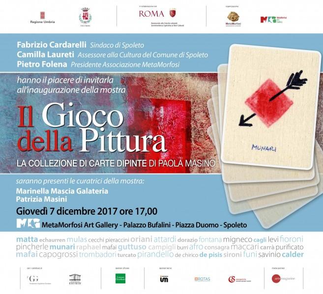 <!--:it-->IL GIOCO DELLA PITTURA. La collezione di carte dipinte di Paola Masino<!--:--><!--:en-->THE PAINTING GAME. Paola Masino's collection of painted playing cards<!--:--> @ MAG Palazzo Bufalini | Spoleto | Umbria | Italia