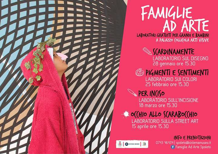 <!--:it-->Famiglie ad Arte - Laboratori gratuiti per grandi e bambini<!--:--><!--:en-->Famiglie ad Arte - Free workshops for the grown-up and the children<!--:--> @ Palazzo Collicola Arti Visive | Spoleto | Umbria | Italia