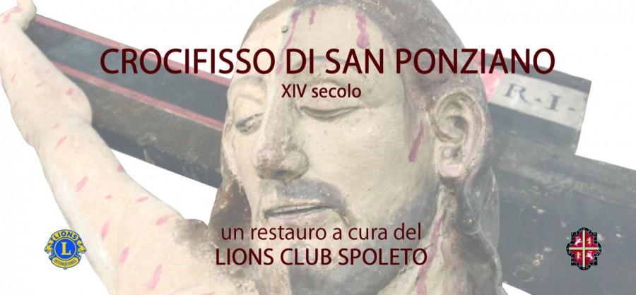 <!--:it-->Cerimonia di consegna del Crocifisso di San Ponziano restaurato a cura del Lions Club<!--:--><!--:en-->St. Pontianus' Crucifix restored - Presentation<!--:--> @ Museo Diocesano - Sala Barberini | Spoleto | Umbria | Italia