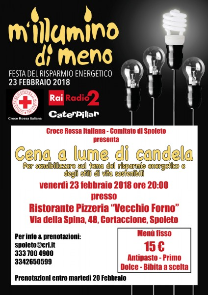 <!--:it-->M'ILLUMINO DI MENO - Cena a lume di candela <!--:--> @ Ristorante Pizzeria Vecchio Forno | Cortaccione | Umbria | Italia
