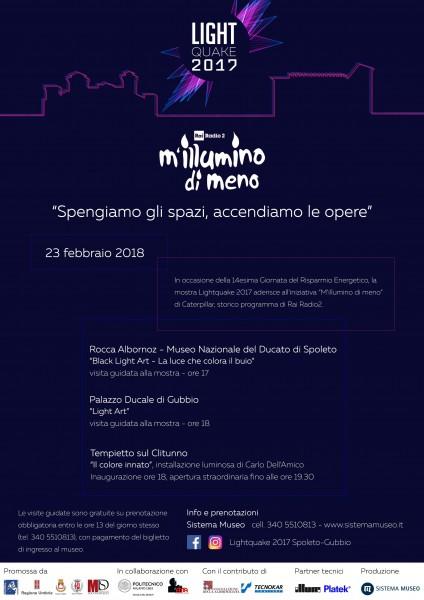 <!--:it-->M'ILLUMINO DI MENO<!--:--><!--:en-->M'ILLUMINO DI MENO<!--:--> @ Rocca Albornoz | Spoleto | Umbria | Italia