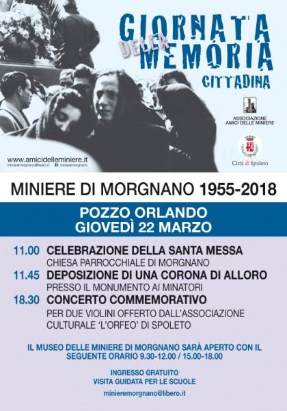 <!--:it-->GIORNATA DELLA MEMORIA CITTADINA Miniere di Morgnano 1955-2018<!--:--><!--:en-->CITY'S REMEMBRANCE DAY - Morgnano Mines, 1955-2018<!--:--> @ Morgnano | Spoleto | Umbria | Italia