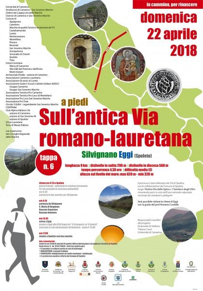 <!--:it-->A PIEDI SULL'ANTICA VIA ROMANO LAURETANA - TAPPA n° 6 SILVIGNANO-EGGI<!--:--><!--:en-->On foot on the old Rome-Loreto way - Stage 6: Silvignano - Eggi<!--:--> @ Stazione FS Spoleto | Spoleto | Umbria | Italia