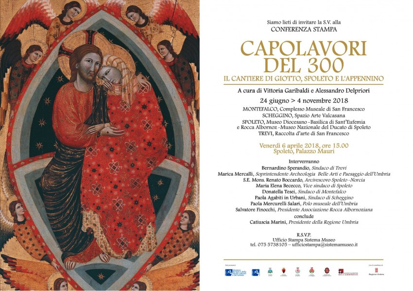 <!--:it-->Conferenza stampa della mostra CAPOLAVORI DEL 300 - Il Cantiere di Giotto, Spoleto e l'Appennino<!--:--> @ Palazzo Mauri | Spoleto | Umbria | Italia