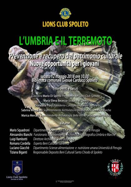 <!--:it-->L'Umbria ed il terremoto. Prevenzione e Recupero del Patrimonio culturale - Nuove opportunità per i giovani<!--:--> @ Palazzo Mauri | Spoleto | Umbria | Italia