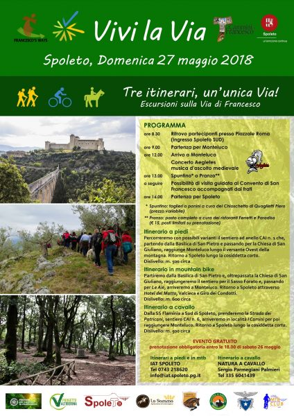 <!--:it-->VIVI LA VIA - Escursioni sulla Via di Francesco<!--:--><!--:en-->VIVI LA VIA - Excursions on the St. Francis Way<!--:--> @ Spoleto - Monteluco | Spoleto | Umbria | Italia