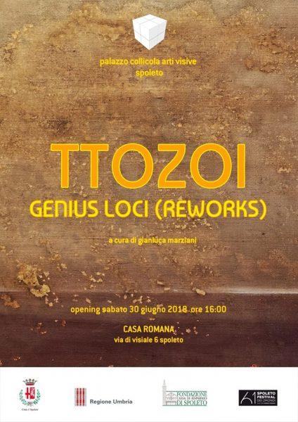 <!--:it-->TTOZOI - GENIUS LOCI (REWORKS) - Mostra<!--:--><!--:en-->TTOZOI - GENIUS LOCI (REWORKS) - Exhibition<!--:--> @ Casa Romana | Spoleto | Umbria | Italia