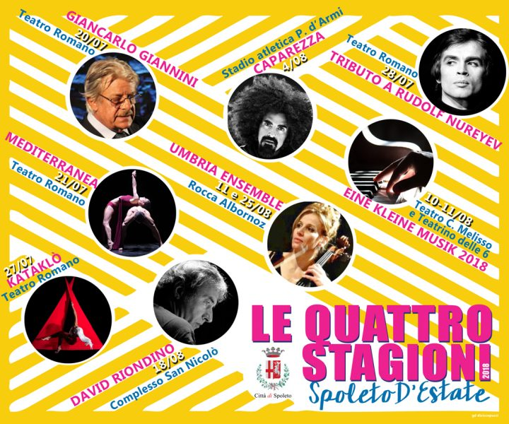 <!--:it-->LE QUATTRO STAGIONI - Spoleto d'Estate<!--:--><!--:en-->THE FOUR SEASONS - Spoleto's Summer 2018<!--:--> @ Spoleto