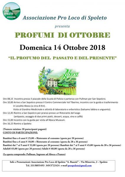 <!--:it-->PROFUMI DI OTTOBRE - Il Profumo del Passato e del Presente<!--:--> @ Spoleto - Aboca | Spoleto | Umbria | Italia