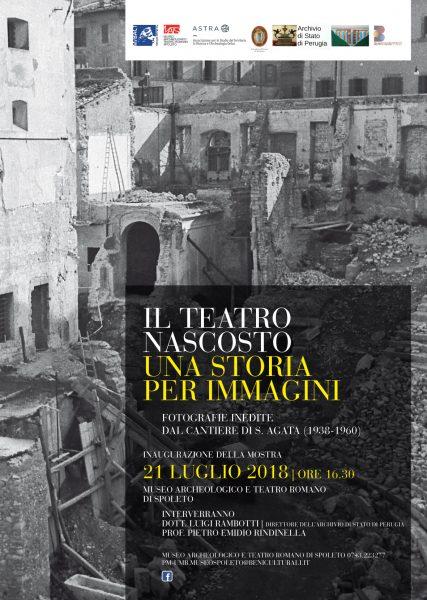 <!--:it-->Il teatro nascosto. Una storia per immagini - Mostra fotografica<!--:--><!--:en-->The Hidden Theatre. A story in images | Photo exhibition<!--:--> @ Museo Archeologico e Teatro Romano di Spoleto | Spoleto | Umbria | Italia
