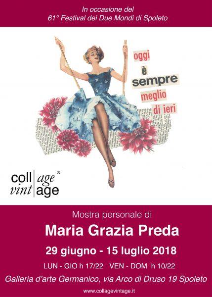 <!--:it-->Il femminismo femminile: mostra di collage vintage di Maria Grazia Preda<!--:--> @ Galleria d'arte Germanico | Spoleto | Umbria | Italia