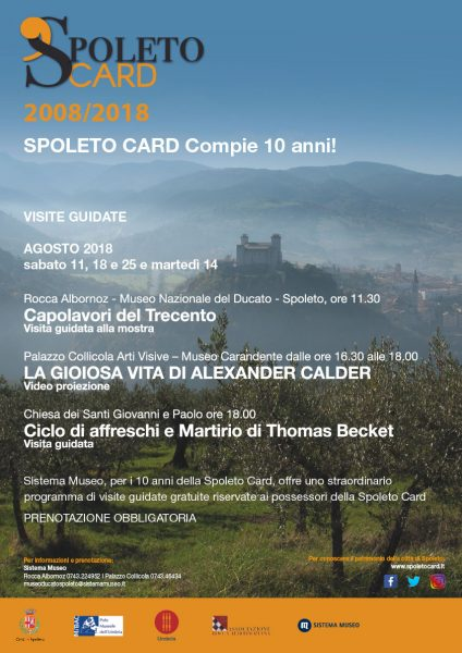 <!--:it-->SPOLETO CARD 2008-2018 - Il programma delle visite guidate per festeggiare i 10 anni<!--:--><!--:en-->SPOLETO CARD 2008-2018 - Free guided tours to celebrate the 10th anniversary<!--:--> @ Spoleto | Spoleto | Umbria | Italia