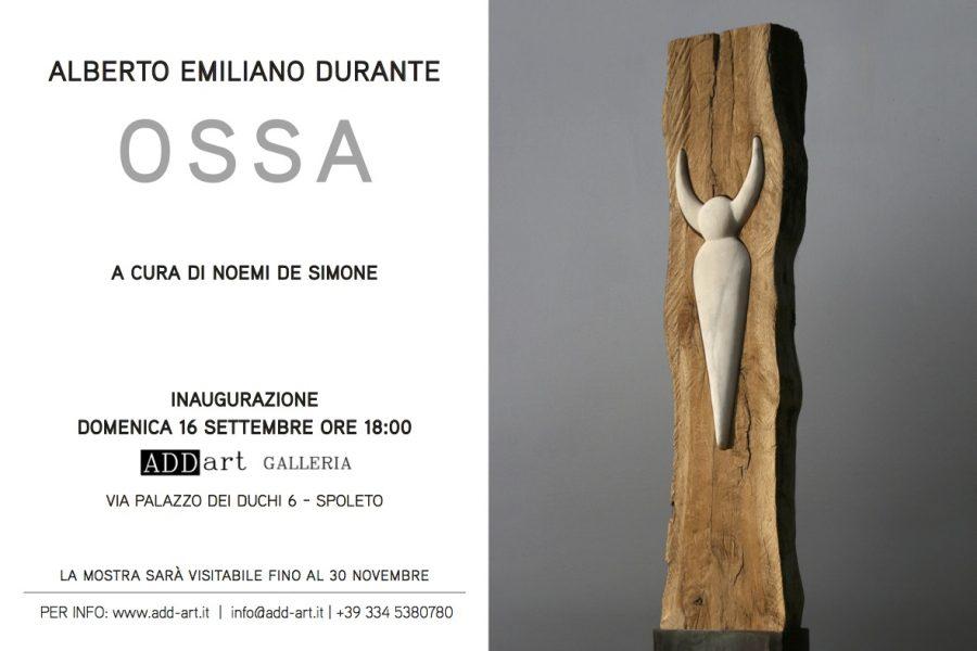 <!--:it-->Alberto Emiliano Durante - OSSA<!--:--><!--:en-->Alberto Emiliano Durante - OSSA (bones)<!--:--> @ Galleria ADD-art | Spoleto | Umbria | Italia