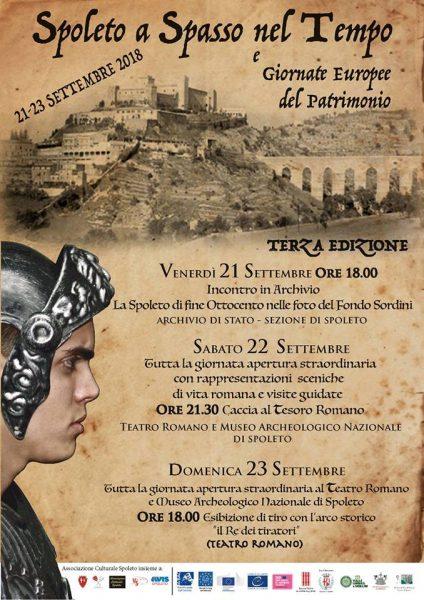 <!--:it-->GIORNATE EUROPEE DEL PATRIMONIO 2018 - Spoleto a Spasso nel Tempo<!--:--> @ Museo Archeologico Nazionale - Teatro Romano | Spoleto | Umbria | Italia