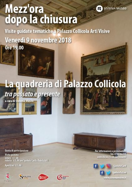 <!--:it-->Mezz'ora dopo la chiusura - La quadreria di Palazzo Collicola tra passato e presente<!--:--><!--:en-->Mezz'ora dopo la chiusura - Palazzo Collicola picture gallery between past and present<!--:--> @ Palazzo Collicola Arti Visive | Spoleto | Umbria | Italia