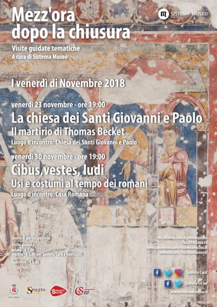 <!--:it-->Mezz'ora dopo la chiusura - La chiesa dei Santi Giovanni e Paolo<!--:--><!--:en-->Mezz'ora dopo la chiusura - The church of Saints John and Paul<!--:--> @ Chiesa dei Santi Giovanni e Paolo | Spoleto | Umbria | Italia