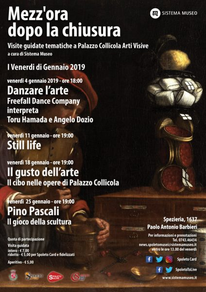 <!--:it-->Mezz'ora dopo la chiusura - IL GUSTO DELL'ARTE. Il cibo nelle opere di Palazzo Collicola<!--:--><!--:en-->Mezz'ora dopo la chiusura - THE TASTE OF ART.  Food in the works of Palazzo Collicola<!--:--> @ Palazzo Collicola Arti Visive | Spoleto | Umbria | Italia