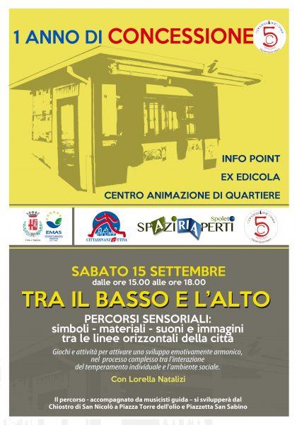 <!--:it-->1° anniversario dell'apertura della Concessione 5 - TRA IL BASSO E L'ALTO <!--:--> @ Piazza Torre dell'Olio | Spoleto | Umbria | Italia