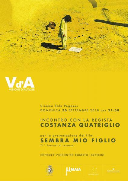 <!--:it-->VISIONI D'AUTORE - Presentazione film SEMBRA MIO FIGLIO di Costanza Quatriglio<!--:--> @ Cinéma Sala Pegasus | Spoleto | Umbria | Italia