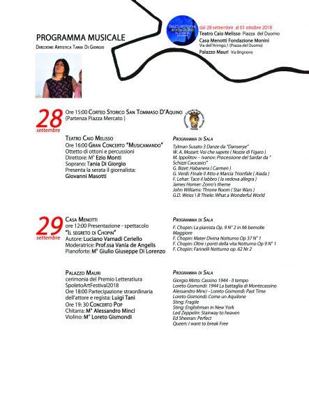 <!--:it-->Programma musicale dello Spoleto Art Festival<!--:--><!--:en-->Musical programme of the Spoleto Art Festival<!--:--> @ Piazza del Mercato / Teatro Caio Melisso | Spoleto | Umbria | Italia