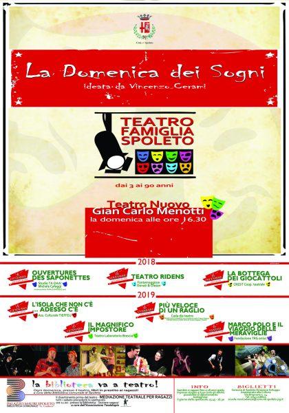 <!--:it-->LA DOMENICA DEI SOGNI – Teatro Famiglia: OUVERTURES DES SAPONETTES<!--:--><!--:en-->LA DOMENICA DEI SOGNI – Family Theatre: OUVERTURES DES SAPONETTES<!--:--> @ Teatro Nuovo Gian Carlo Menotti | Spoleto | Umbria | Italia