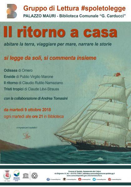<!--:it-->IL RITORNO A CASA - Gruppo di lettura #spoletolegge<!--:--><!--:en-->THE RETURN HOME - Reading group #spoletolegge<!--:--> @ Biblioteca Comunale G. Carducci - Palazzo Mauri | Spoleto | Umbria | Italia