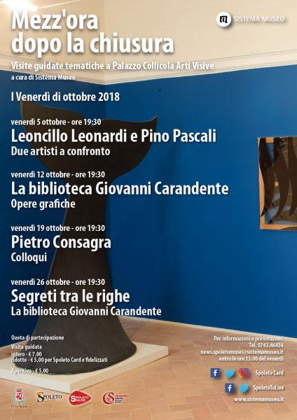 <!--:it-->Mezz'ora dopo la chiusura - PIETRO CONSAGRA - COLLOQUI<!--:--><!--:en-->Mezz'ora dopo la chiusura - PIETRO CONSAGRA - CONVERSATIONS<!--:--> @ Palazzo Collicola Arti Visive | Spoleto | Umbria | Italia