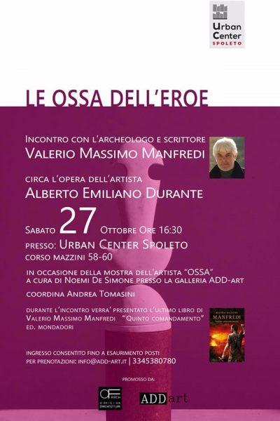 <!--:it-->LE OSSA DELL'EROE - Incontro con Valerio Massimo Manfredi e presentazione libro QUINTO COMANDAMENTO <!--:--> @ Urban Center di Spoleto  | Spoleto | Umbria | Italia