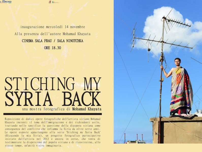 <!--:it-->Inaugurazione mostra STITCHING MY SYRIA BACK<!--:--> @ Cinema Sala Frau - sala Ninotchka