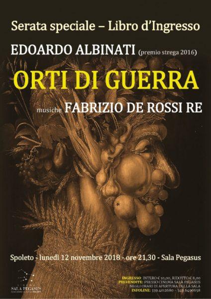 <!--:it-->Serata sperciale LIBRO D'INGRESSO - ORTI DI GUERRA di Edoardo Albinati (premio Strega 2016)<!--:--> @ Cinéma Sala Pegasus