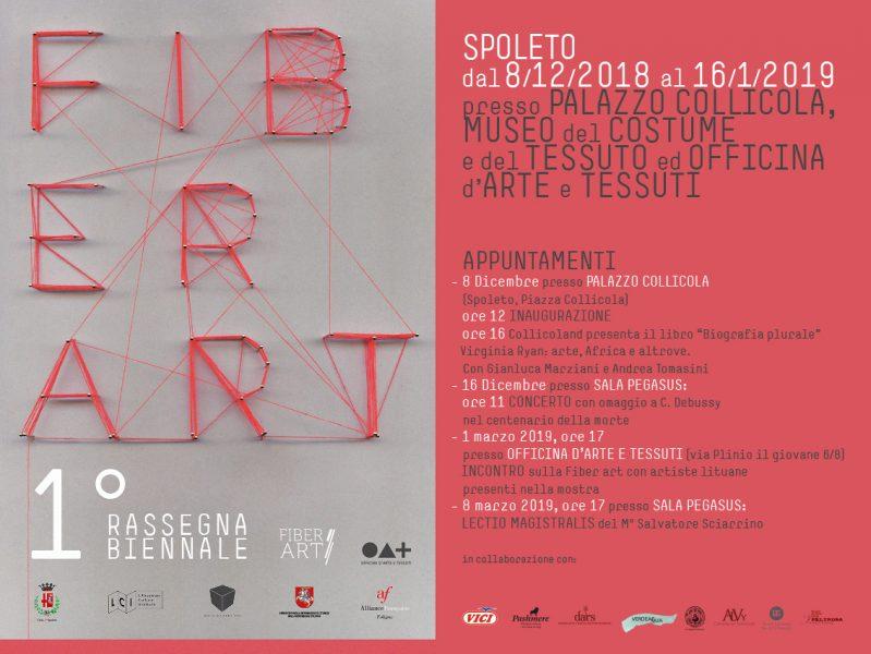 <!--:it-->RASSEGNA BIENNALE DI FIBER ART - Spoleto#Conoscere<!--:--> @ Galleria Officina d'Arte&Tessuti, Palazzo Collicola, Museo del Costume e del Tessuto