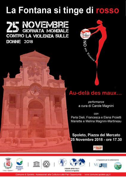 <!--:it-->La Fontana si tinge di rosso - Giornata contro la violenza sulle donne<!--:--> @ Piazza del Mercato