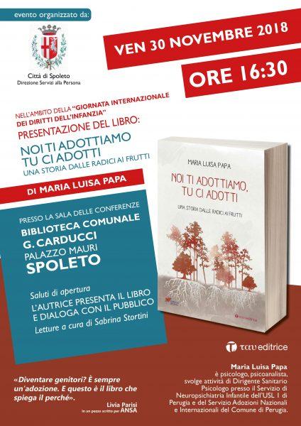 <!--:it-->Presentazione del libro 'Noi ti adottiamo, tu ci adotti - una storia dalle radici ai frutti' di Maria Luisa Papa<!--:--> @ Palazzo Mauri - Sala Conferenze