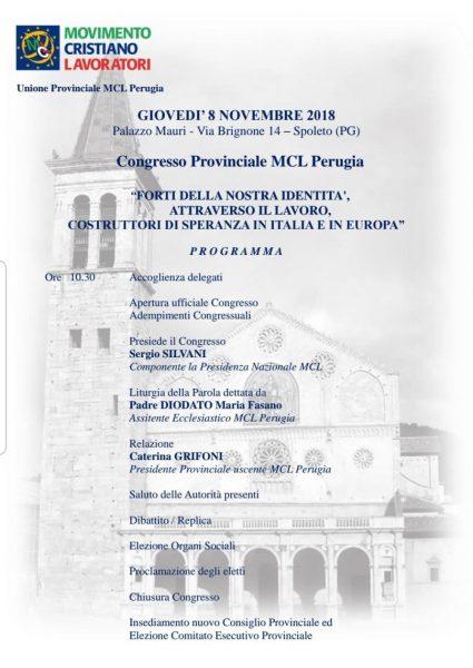 <!--:it-->13° Congresso Provinciale dell'Unione di Perugia del Movimento Cristiano Lavoratori<!--:--> @ Palazzo Mauri