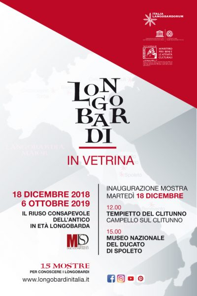 <!--:it-->MOSTRA | Il riuso consapevole dell'antico in area spoletina in età longobarda <!--:--><!--:en-->EXHIBITION | The intentional reuse of Roman worked stone in the Lombard Period<!--:--> @ Tempietto del Clitunno e Museo Nazionale del Ducato di Spoleto