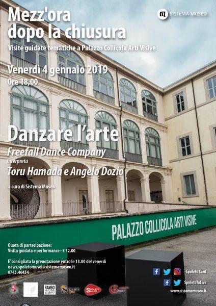 <!--:it-->MEZZ'ORA DOPO LA CHIUSURA | DANZARE L'ARTE Freefall Dance Company  interpreta  Toru Hamada e Angelo Dozio<!--:--> @ Palazzo Collicola Arti Visive