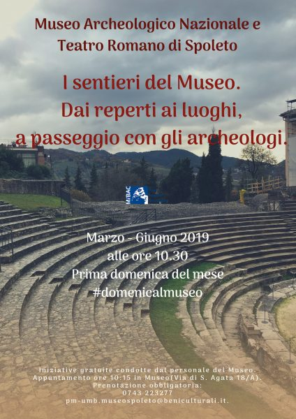 <!--:it-->I SENTIERI DEL MUSEO - Dai reperti ai luoghi, a passeggio con gli archeologi<!--:--><!--:en-->The Museum's Routes - An Archaeological Stroll Through Finds and Places<!--:--> @ Museo Archeologico e Teatro Romano di Spoleto