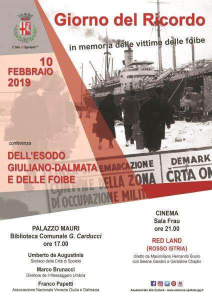 <!--:it-->GIORNO DEL RICORDO | In memoria delle vittime delle foibe<!--:--> @ Palazzo Mauri e Sala Frau