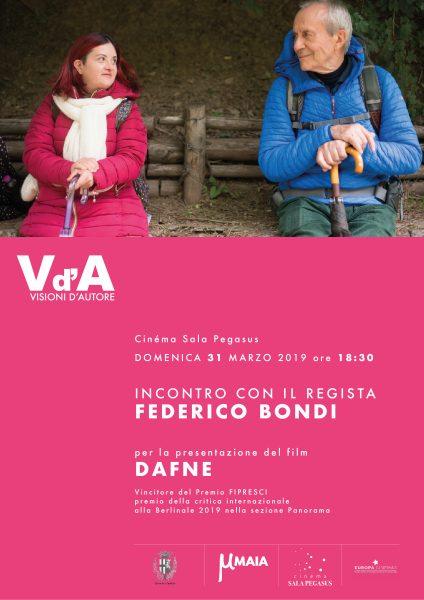 <!--:it-->VISIONI D'AUTORE | Il regista Federico Bondi presenta il suo film DAFNE<!--:--><!--:en-->VISIONI D'AUTORE | Director Federico Bondi presents his movie DAFNE<!--:--> @ Cinéma Sala Pegasus