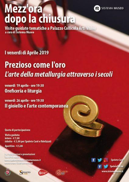 <!--:it-->Mezz'ora dopo la chiusura | PREZIOSO COME L'ORO L'arte della metallurgia attraverso i secoli - Oreficeria e liturgia<!--:--> @ Palazzo Collicola Arti Visive
