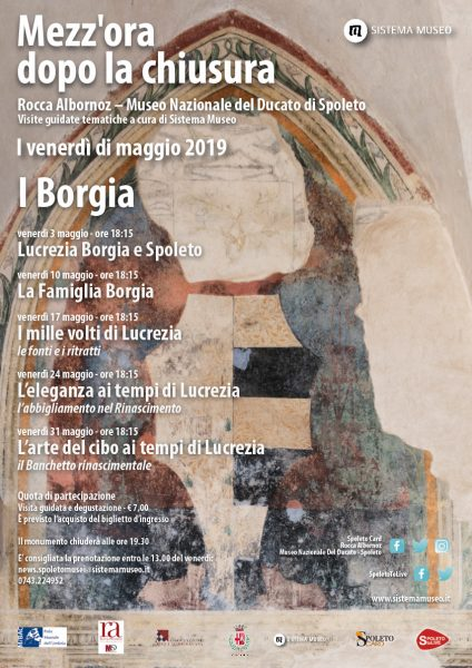 <!--:it-->Mezz'ora dopo la chiusura | I BORGIA<!--:--><!--:en-->Mezz'ora dopo la chiusura | THE BORGIAS<!--:--> @ Rocca Albornoziana - Museo Nazionale del Ducato