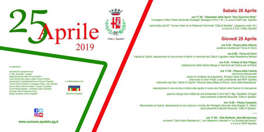<!--:it-->Celebrazione del 25 aprile | 74° anniversario della Liberazione<!--:--> @ Spoleto