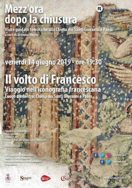 <!--:it-->Mezz'ora dopo la chiusura | IL VOLTO DI FRANCESCO - Viaggio nell'iconografia francescana<!--:--><!--:en-->Mezz'ora dopo la chiusura | FRANCIS' FACE - A journey through Franciscan iconography<!--:--> @ Chiesa dei SS Giovanni e Paolo