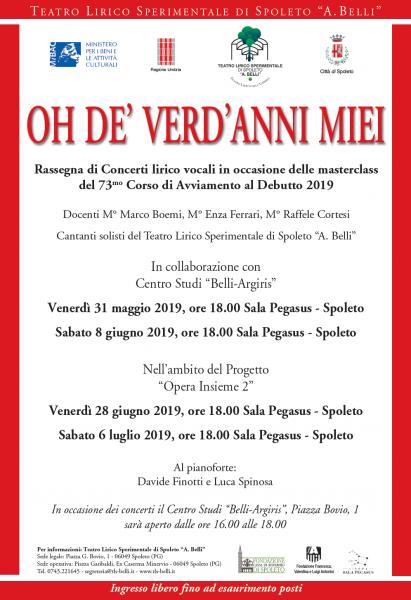 <!--:it-->OH DE' VERD'ANNI MIEI | Rassegna di concerti<!--:--><!--:en-->OH DE' VERD'ANNI MIEI | Cycle of concerts<!--:--> @ Sala Pegasus - Piazza Bovio