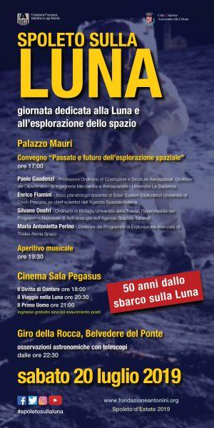 <!--:it-->SPOLETO SULLA LUNA | Un convegno, una rassegna di cinema, un aperitivo in musica e l'osservazione del cielo con telescopi<!--:--><!--:en-->SPOLETO ON THE MOON | A conference, space-themed film screenings, an aperitif with music and night sky observing with telescopes<!--:--> @ Palazzo Mauri e Cinéma Sala Pegasus