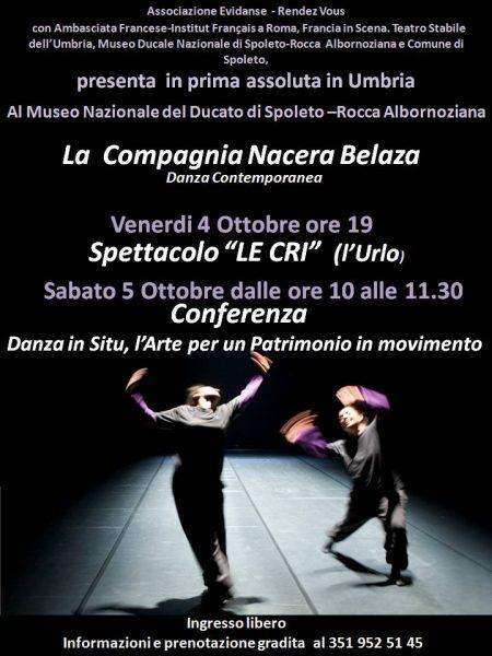"<!--:it-->Rendez Vous Nacera Belaza | SPETTACOLO ""LE CRI"" (L'Urlo)<!--:-->"