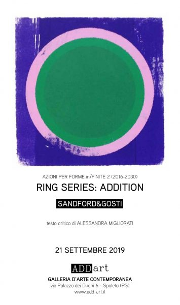 <!--:it-->RING SERIES - ADDITION  SANDFORD&GOSTI<!--:--> @ ADD-art gallery, via Palazzo dei Duchi 6