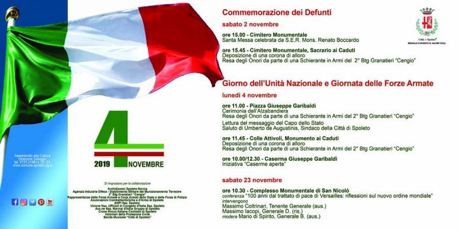 <!--:it-->Commemorazione dei Defunti e Giornata dell'Unità Nazionale e la Giornata delle Forze Armate<!--:-->